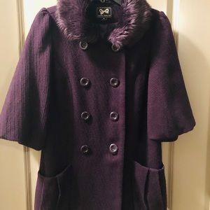 Forever 21 Purple Winter Peacoat